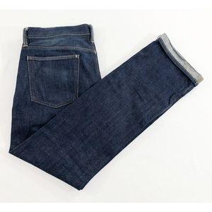 Gap Mens Skinny Selvedge Raw Denim Jeans Size 34